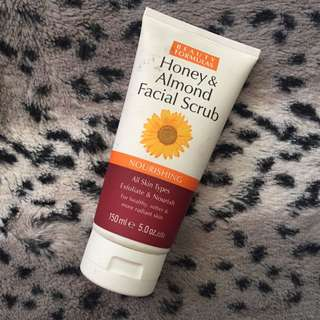 Honey and almond facial scrub