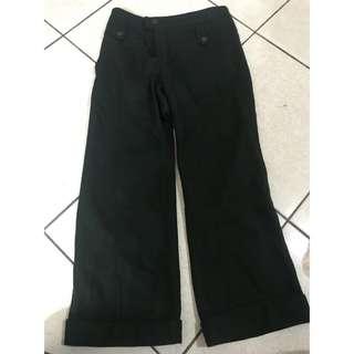 🚚 深綠 厚棉直筒褲
