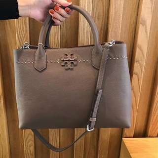 TORY BURCH MCGRAW TRIPLE COMPARTMENT SATCHEL 25