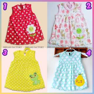 ❣️KL Ready Stock❣️BABY Cotton Dress Baby girls sleeves swing top❣️Buy5 FreePost