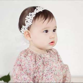 Adina Lace Headband for Baby Girl
