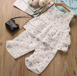 *In stock* Sleeveless Dress Top & Bottom Set