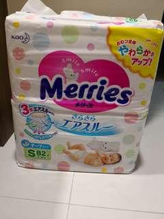 Merries Tape Diapers Jumbo Pack Size S