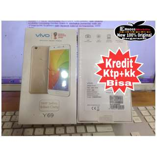 Vivo Y69 Resmi- Cash/Kredit toko Dp 500rb cepat Ktp+Kk Bisa free mc