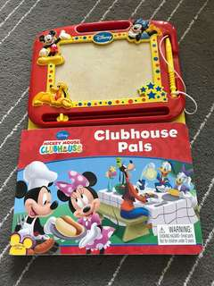 Mickey Mouse Clubhouse Pals Magnetic Pen Drawing Story Book