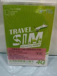 台灣遠傳電信7天4G無限(吃到飽)$55台灣上網卡 數據卡 即插即用 深水步取 或郵寄 量大再議 歡迎批發