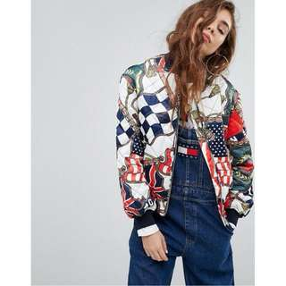 Tommy Jeans 90s Capsule Bomber with Flag Print