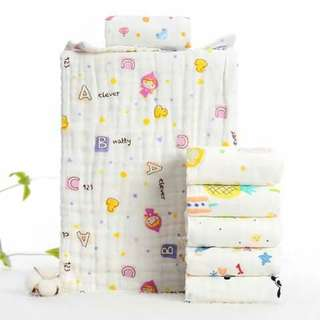 2pc 6-Layer Soft Baby Towel