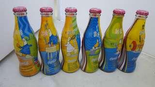 可口可樂中國奧運冠軍榜一套六瓶! 青島可口可樂出品