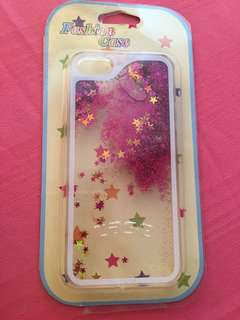 Hard case iPhone 5 (water glitters case)