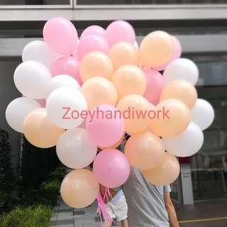 Helium balloons @ zoeyhandiwork