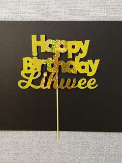 Customized Birthday Cake Topper