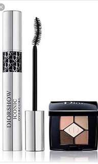 Dior Iconic Overcurl Mascara and 5 color Eyeshadow Palette