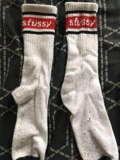 Stussy White Socks