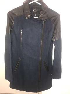 NAVY & BLACK COAT