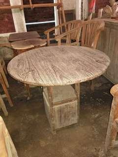 Meja kuno antik jati