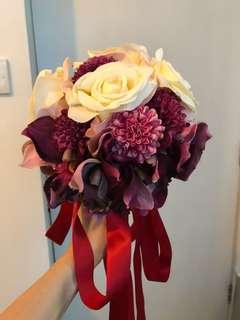 結婚花球 絲花花球 新娘花球