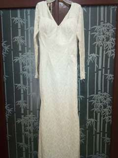 White glitter longdress