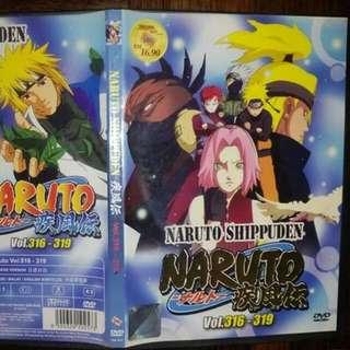 DVD Judul : NARUTO VOL: 316-319 Japanese version Chinese/ Malay/ English subtitles Harga: RM5.00  Beli banyak jimat kos pos