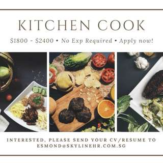 F&B KITCHEN COOK & SERVICE CREW x MANY   UP TO $2500
