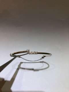 Mabelle 18k白色黃金鑽石手鐲,4粒37份