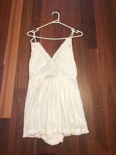 White playsuit Goddess - Mia Party dress