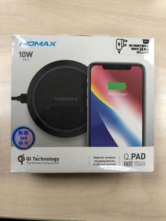 New全新Momax Q.Pad Wireless Charger 無線充電器黑色Black