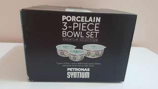 Porcelain 3 PCS Bowl Set