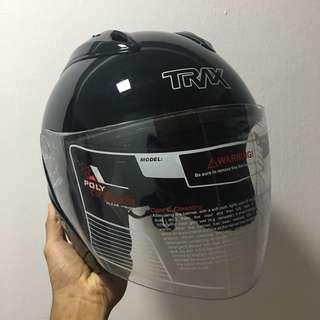 TRAX XB02G Metallic Black Helmet