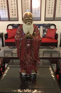 """China Shi wan 24"""" confucius figuring statue"""
