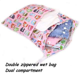 Kids Diaper Wet Bag with Double Compartment