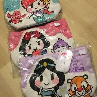東京迪士尼 小魚仙白雪公主 jasmine 手挽袋