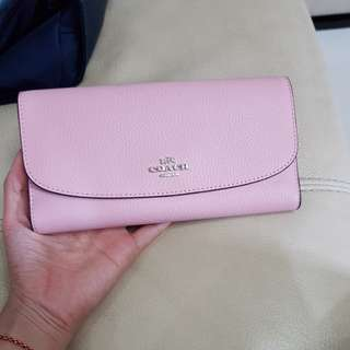 Wallet coach pink