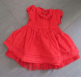 二手bb嬰兒M & S  紅色裙
