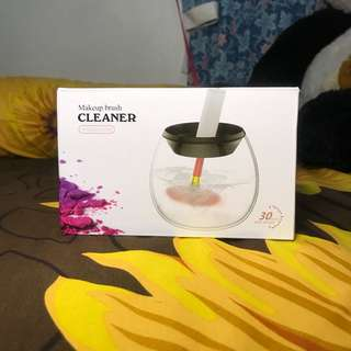 Spindle cleaner brush