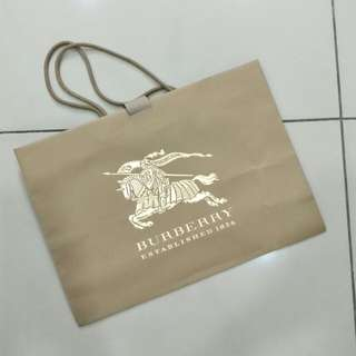 Burberry paper bag