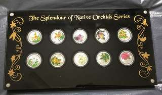 The Splendour Of Native Orchids Series-Silver Proof Coin Set