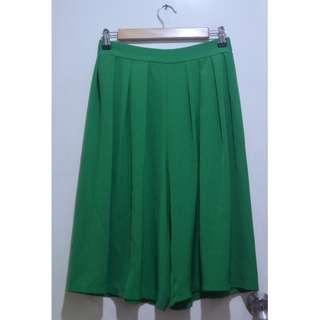 Flowy Midi Pleat Culottes | Square Pants