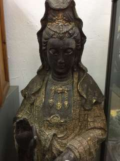 Bronze gilded Guanyin statue