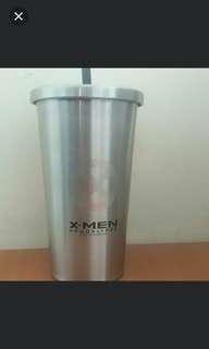 出售全新marvel x-man 不銹鋼杯連飲管