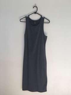 Blue bodycon midi dress 👗