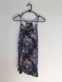 Floral print long line cami 👚