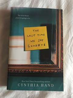 Books- The Last Time we say Goodbye