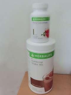 Herbalife shake & tea concentrate (ori)