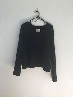 Navy blue knitted jumper 👚