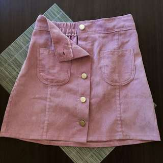 THINK PINK: Faux Suede Skirt