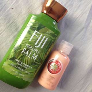 BATH & BODY WORKS LOTION & THE BODY SHOP BODY WASH