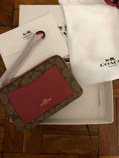 Coach Wristlet Authentic Quality with Dustbag and Box