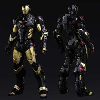 (CLEARANCE) Sentinel - Re:Edit - Iron Man #06 Marvel Now! Ver. Black X Gold (Japan Version)