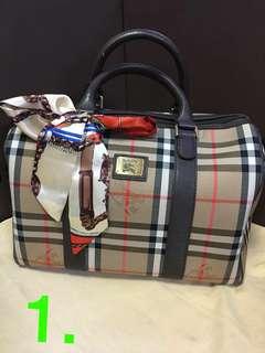 Authentic Burberry Boston Bag